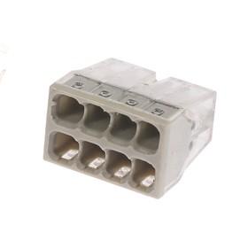 Строительно-монтажная клемма Luazon Lighting КМБ-2273-208, 2,5 мм2, 8 отверстий