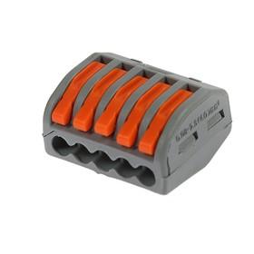 Строительно-монтажная клемма Luazon Lighting СК-330, 32А, 0,08-2,5 мм2, 5 отв.,с рычажком Ош