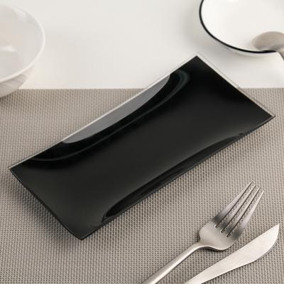 Блюдо «Гладкое», 19×9 см, цвет чёрный - Фото 1