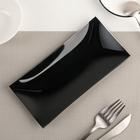 Блюдо «Гладкое», 19×9 см, цвет чёрный - Фото 2