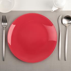 Тарелка, d=24 см, цвет красный