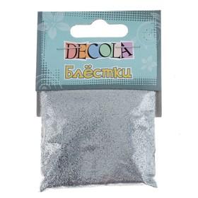 Декор блёстки ЗХК Decola 0.1 мм, 20 г, серебро
