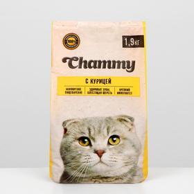 Сухой корм Chammy для кошек, курица 1,9 кг