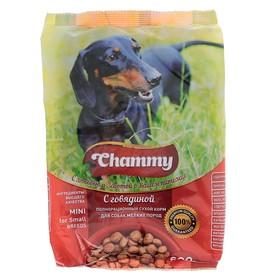 Сухой корм Chammy для собак мелких пород, говядина, 600 г Ош