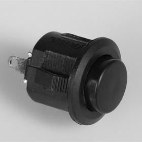 Выключатель кнопочный без подсветки, без фиксации, черный Ош
