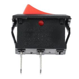 Выключатель клавишный без подсветки, без фиксации, красный