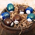 Термонаклейки на 7 яиц «С праздником Пасхи!»