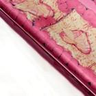 "Плёнка металлизированная ""Сердца в розах"", цвет розовый, 50 х 70 см"