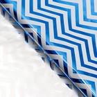 """Плёнка металлизированная """"Волна"""", цвет синий, 50 х 70 см"""