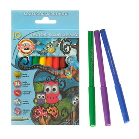 Фломастеры 10 цветов Koh-I-Noor 1012/10, картонная упаковка, европодвес