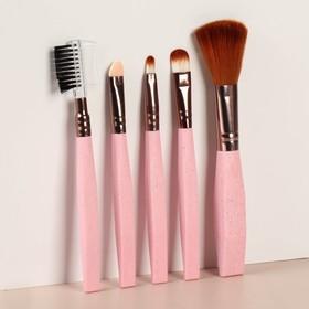 Набор кистей для макияжа «Ева», 5 предметов, цвет МИКС