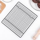 Решётка для глазирования и остывания кондитерских изделий KONFINETTA, 26×23×3 см - Фото 4