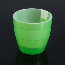"""Кашпо 1,2 л """"Грация"""", цвет зеленый"""