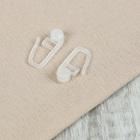 Крючок для штор, роликовый, 27 ? 11 мм, цвет белый