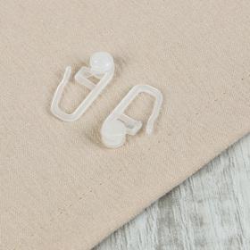 Крючок для штор, роликовый, 27 × 11 мм, цвет белый Ош