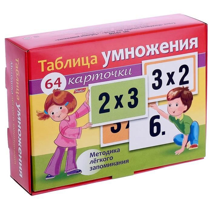 Наглядные пособия «Таблица умножения», 64 карточки