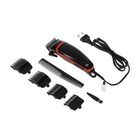 Машинка для стрижки ENERGY EN-735, 10 Вт, 4 насадки, черно-оранжевая Ош