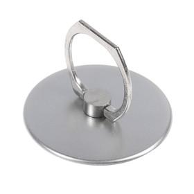 Держатель-подставка с кольцом для телефона LuazON, в форме круга, серебристый Ош