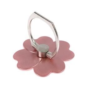 Держатель-подставка с кольцом для телефона LuazON, в форме цветка, розовый Ош
