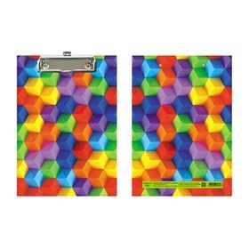 Планшет с зажимом А5, ламинированный картон Канцбург «Кубики» Ош