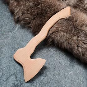 """Сувенирное деревянное оружие """"Топор фигурный"""", 40 х 15 см, массив бука"""
