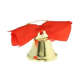 Колокольчик 'Звоночек', атласный бант , красный Ош