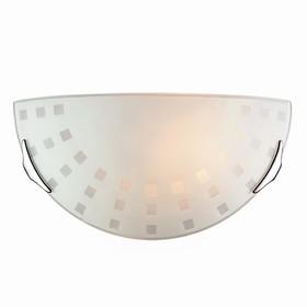 Светильник QUADRO WHITE 1x100Вт E27 хром, белый