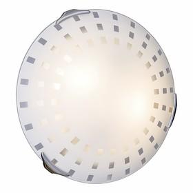 Светильник QUADRO WHITE 2x60Вт E27 хром, белый