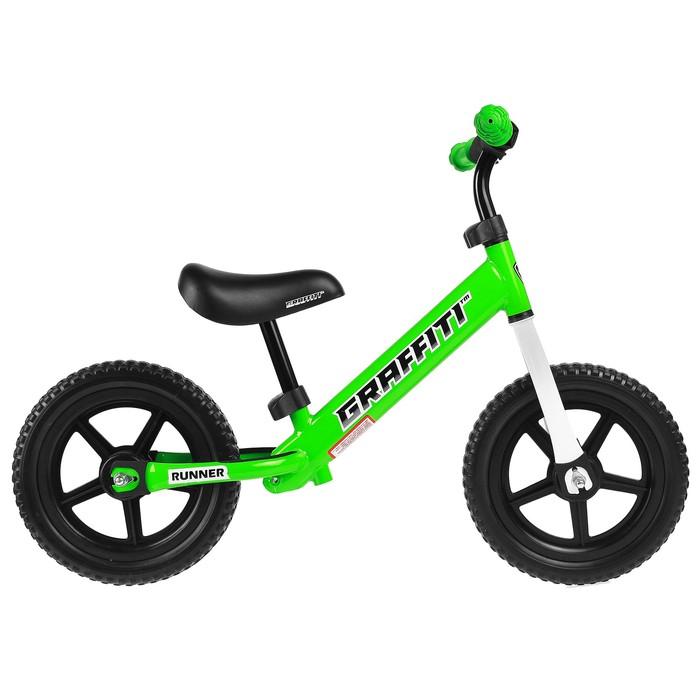 """Беговел 12"""" GRAFFITI Runner, цвет зелёный"""