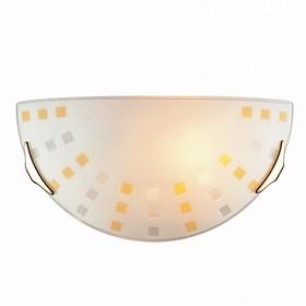 Светильник QUADRO AMBRA 1x100Вт E27 золото, желтый