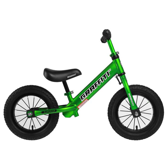 "Беговел 12"" GRAFFITI Superior, цвет зелёный"