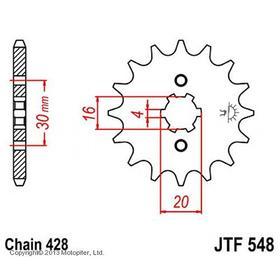 Звезда передняя, ведущая JTF548, стальная Ош