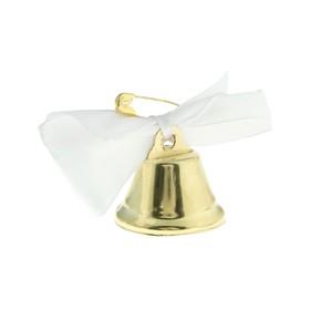 Колокольчик 'Звоночек', атласный бант , белый Ош