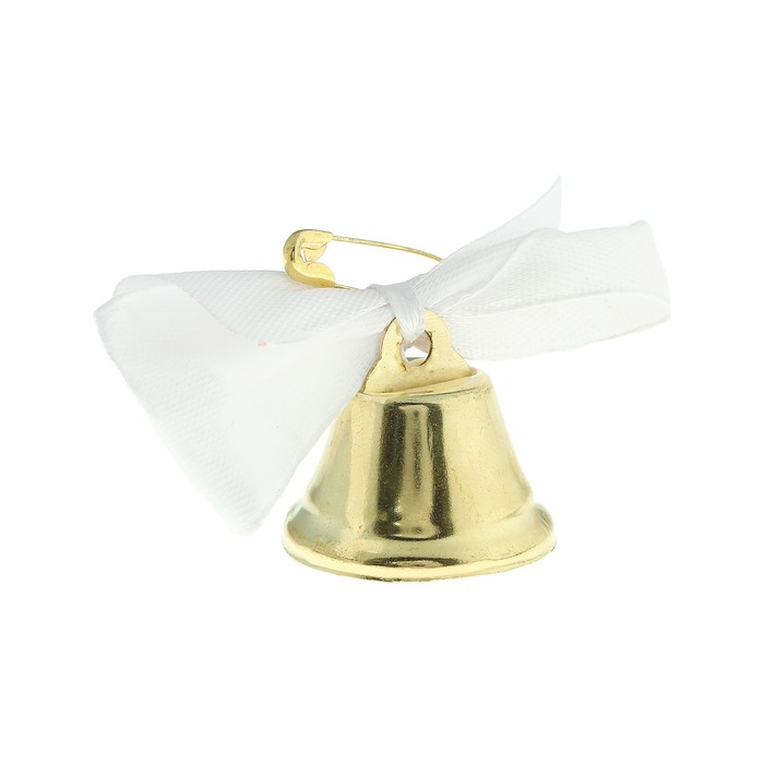 Колокольчик Звоночек, атласный бант , белый