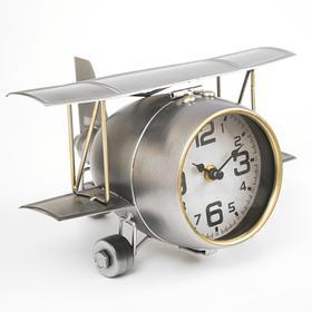 Часы настольные, серия: Транспорт, 'Самолёт с двойными крыльями', 26.5х15х19.5 Ош