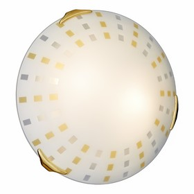 Светильник QUADRO AMBRA 2x100Вт E27 золото, желтый