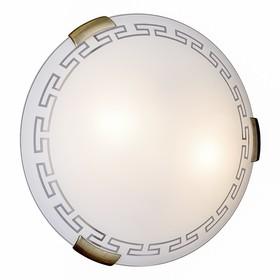 Светильник GRECA 2x100Вт E27 бронза, белый