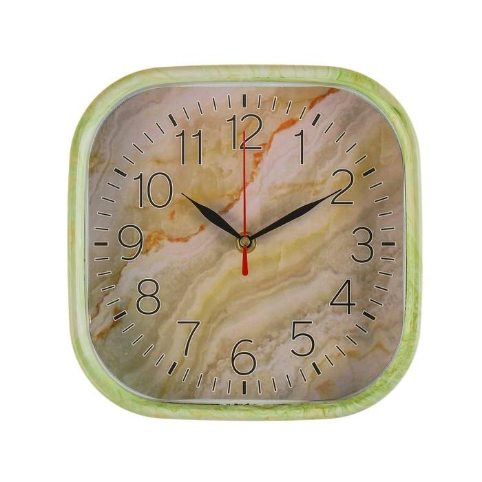 Часы настенные, серия Классика, Оникс, квадратные, 22х22 см