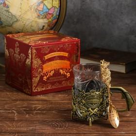 Подарочный набор подстаканник с ложкой «Лучший дедушка» Ош