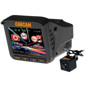 Видеорегистратор + радар-детектор Каркам Комбо 5S, две камеры, 2.4', обзор 160°, 2304 х 1296   41650 Ош