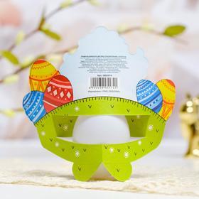 Пасхальная открытка-держатель на 1 яйцо «Светлой Пасхи!»