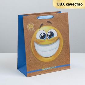 Пакет крафтовый вертикальный «Веселья и радости», MS 18 × 23 × 10 см Ош