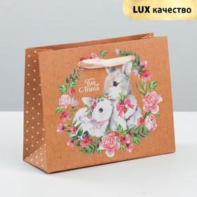 Пакет крафтовый горизонтальный «Милой и нежной», 15 × 12 × 5,5 см Ош