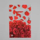 """Пакет """"Лепестки роз NEW"""", полиэтиленовый с вырубной ручкой, 20 х 30 см, 30 мкм"""