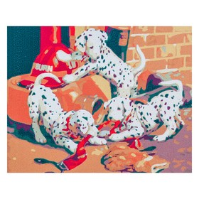Картина по номерам «Далматинцы» 40х50 см