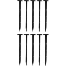 Набор колышков для фиксации садовых мембран и геотекстиля, h = 10 см, пластик, набор 10 шт. Ош