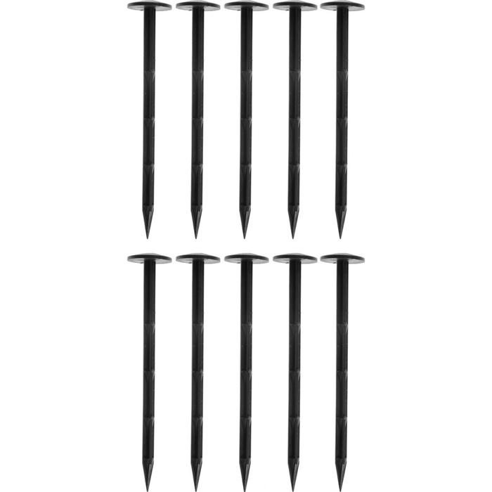 Гвоздь крепёжный для фиксации укрывного материала, h = 20 см, набор 10 шт., пластик