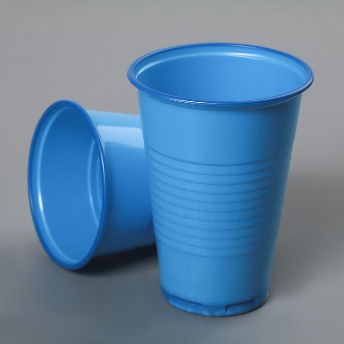 купить Стакан одноразовый Стандарт, 200 мл, цвет синий