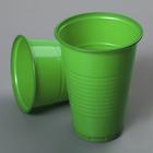 Стакан одноразовый «Стандарт», 200 мл, цвет зелёный, 100 шт/уп.
