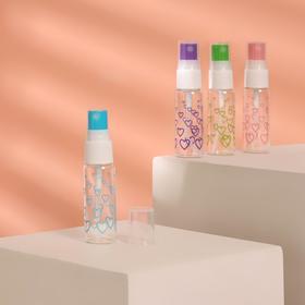 Бутылочка для хранения «Сердечки», с распылителем, 20 мл, цвет МИКС Ош